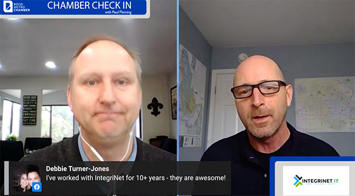 Paul Fleming of Boise Metro Chamber interviews Fred Bauerfield of Integrinet IT