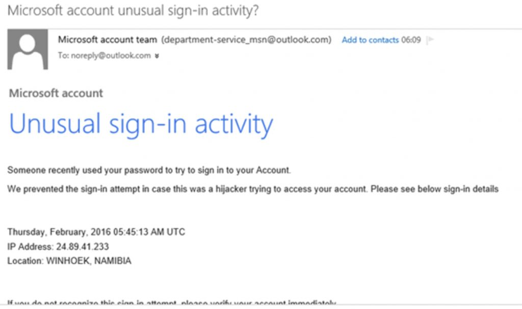 Don't be fooled by phishing emails that appear like they are from a trusted source